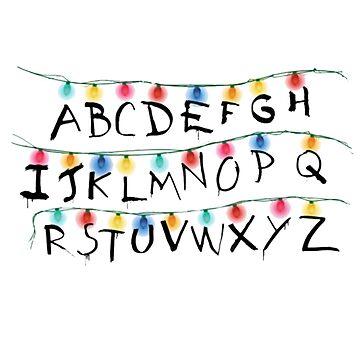 Stranger Alphabet by darklordKiba