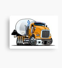 Cartoon Mixer Truck Canvas Print