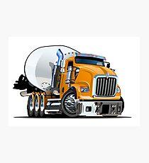 Cartoon Mixer Truck Photographic Print