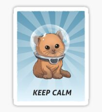 Keep Calm Kitty Sticker