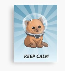 Keep Calm Kitty Metal Print