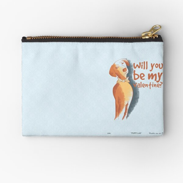 Doggy Valentine Zipper Pouch