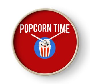 'POPCORN TIME' Throw Pillow by FelipeBartlett