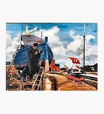 Caulking Boat with Oakum Photographic Print