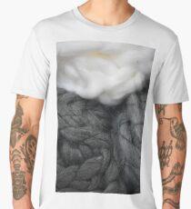 Bulky Grey and White Yarn Up Close Men's Premium T-Shirt