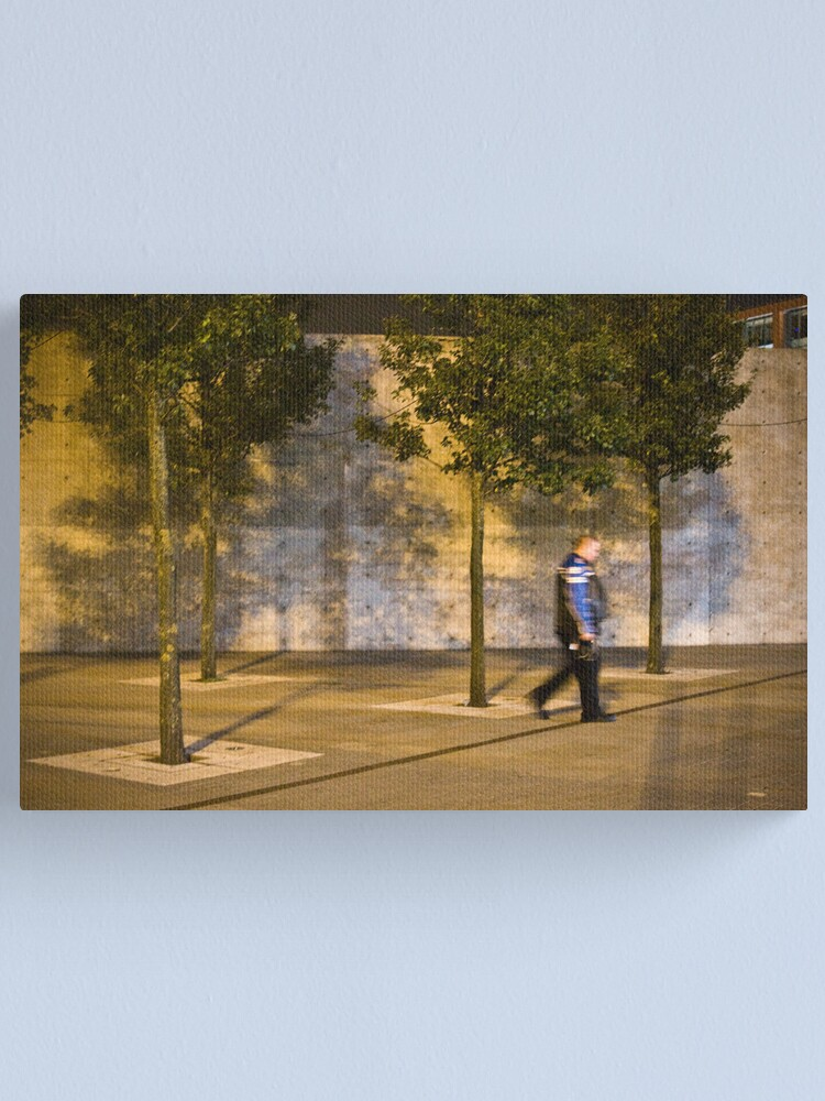 Alternate view of Biker in an urban jungle Canvas Print