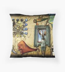 Dali Collage Throw Pillow
