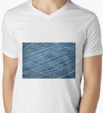 Hues of Blue Crochet Thread Men's V-Neck T-Shirt