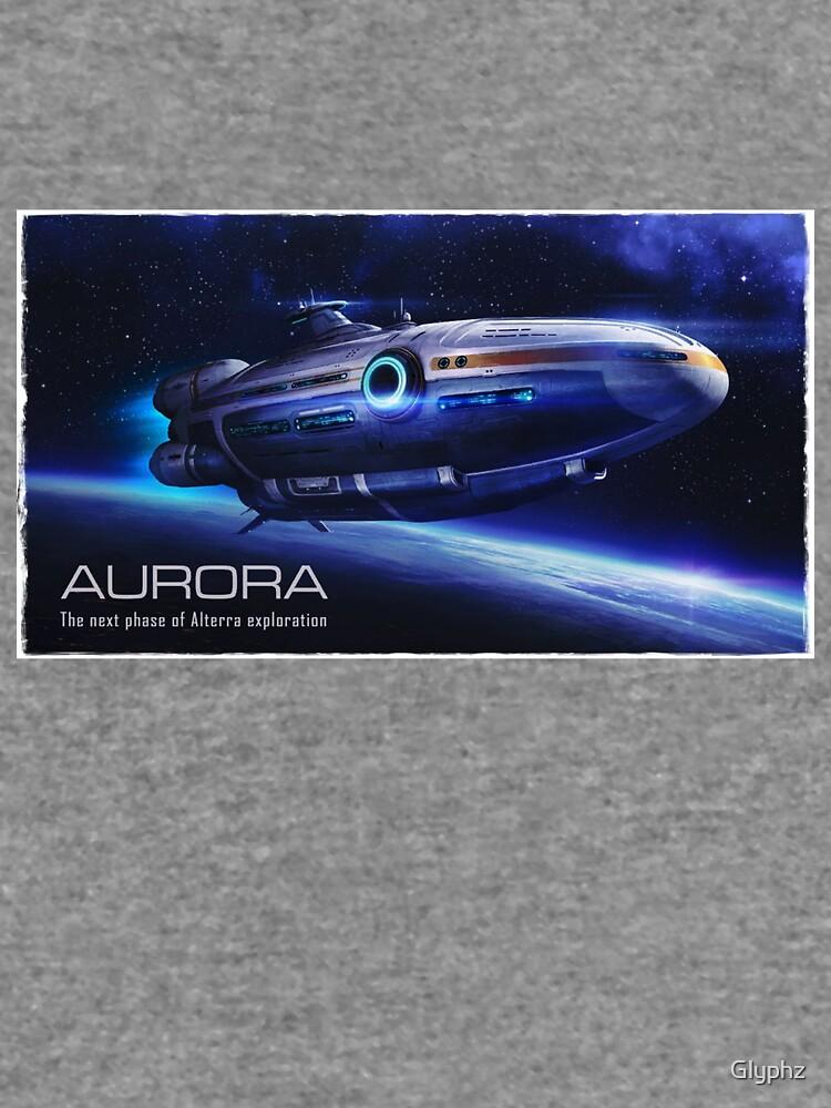 Aurora Flying by Glyphz