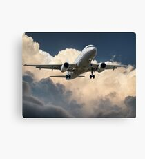 Aeroplane in the Clouds Canvas Print