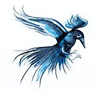 Blue Raven by Kate Rolfe