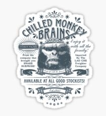 Chilled Monkey Brains Sticker