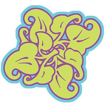 flower - graffiti style von Periartwork