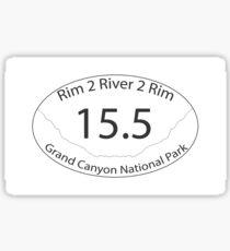 Grand Canyon Rim to River to Rim Hike Bright Angel Trail Sticker