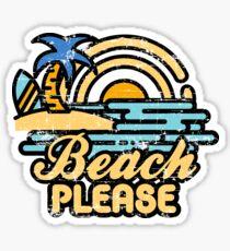 Strand bitte Glänzender Sticker