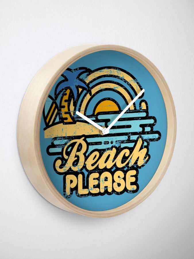 Alternate view of Beach Please Clock