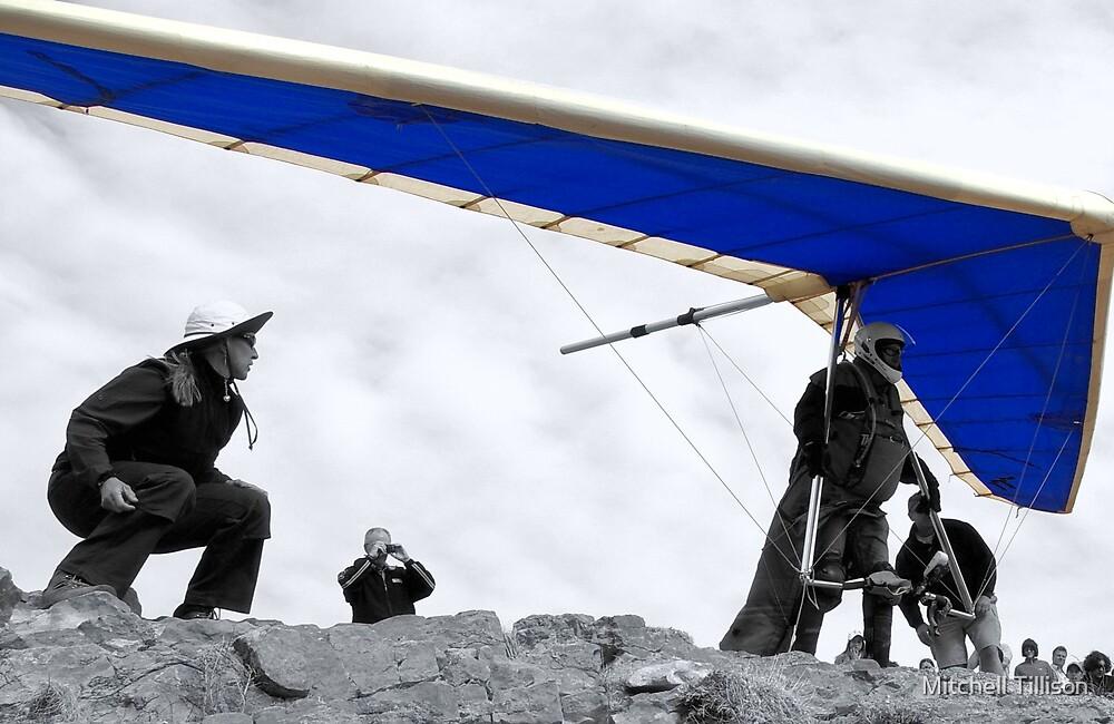 Blue Hang Glider by Mitchell Tillison