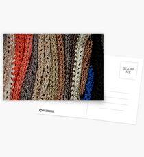 Stack of Scarves Postcards
