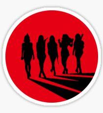 red velvet siluet black red Sticker