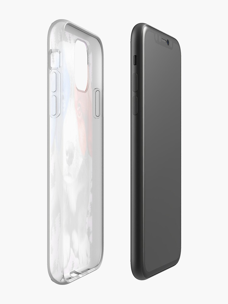 Coque iPhone «Chiot patriotique», par JLHDesign
