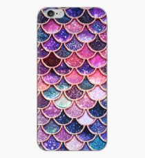 Pink Sparkle Faux Glitter Mermaid Scales iPhone Case