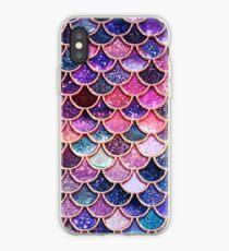 Vinilo o funda para iPhone Escamas de Sirena de Sparkle Faux Glitter rosadas