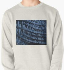 Blue Cotton Yarn Texture Pullover