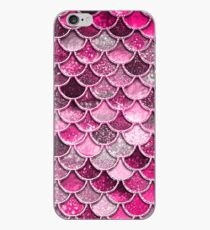 Pink Purple Magenta Sparkle Faux Glitter Mermaid Scales iPhone Case