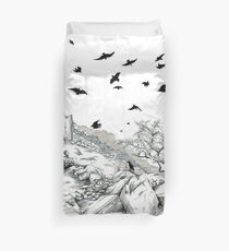 Aly and the Crows Duvet Cover