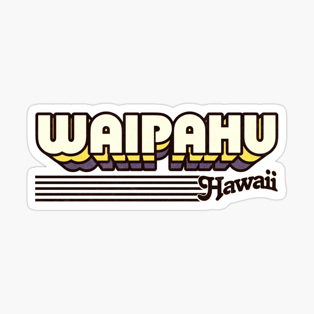 Waipahu, Hawaii | Retro Stripes Sticker