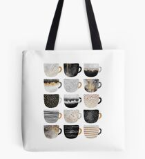 Pretty Coffee Cups 4 Tote Bag