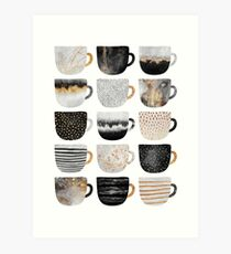 Pretty Coffee Cups 4 Art Print