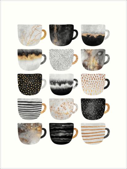 Pretty Coffee Cups 4 by Elisabeth Fredriksson