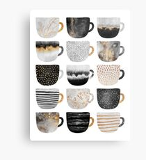 Pretty Coffee Cups 4 Metal Print