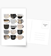 Pretty Coffee Cups 4 Postcards