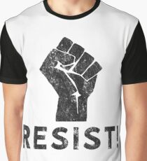 Resist Fist with Exclamation Point Graphic T-Shirt