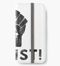 Resist Fist with Exclamation Point iPhone Wallet/Case/Skin
