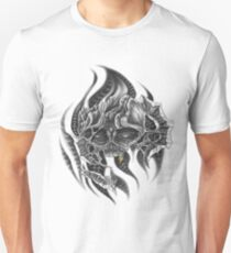 Bio-mechanical skull Unisex T-Shirt