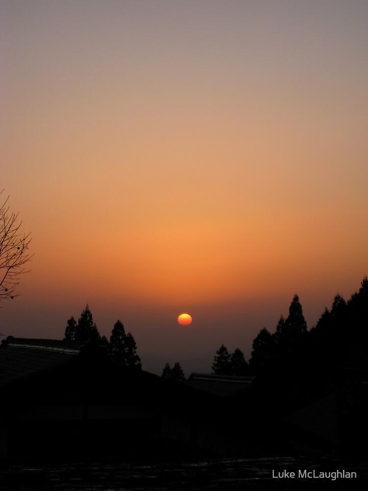 Sunset in Magome by Luke McLaughlan