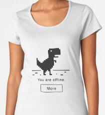 Offline Dinosaur Women's Premium T-Shirt