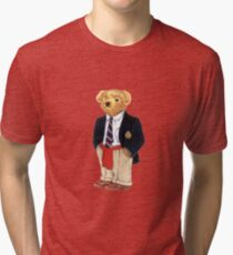 Camiseta de tejido mixto Preppy Smart Blazer Polo Bear