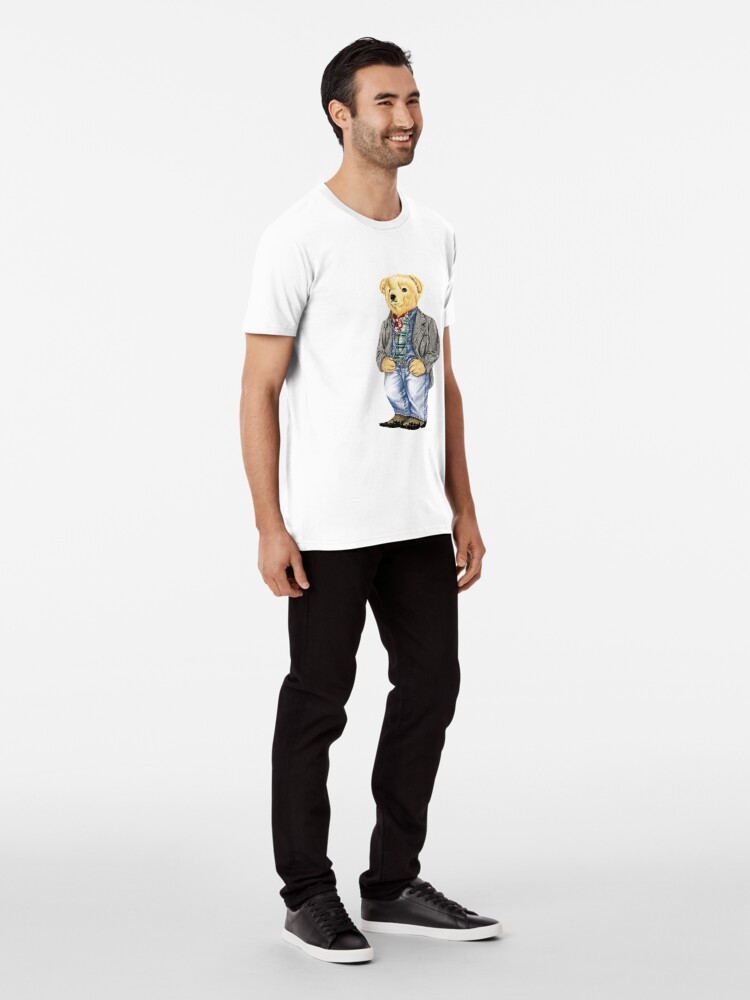 Alternate view of Cowboy Denim Polo Bear Premium T-Shirt