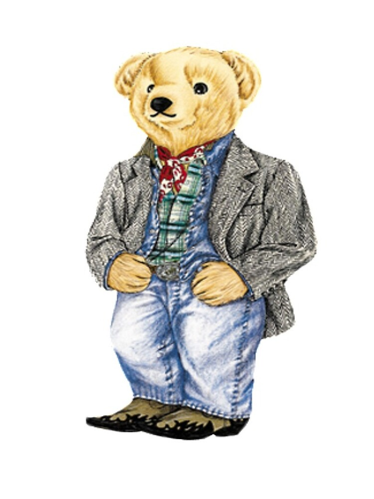 Cowboy Denim Polo Bear by easyrider3