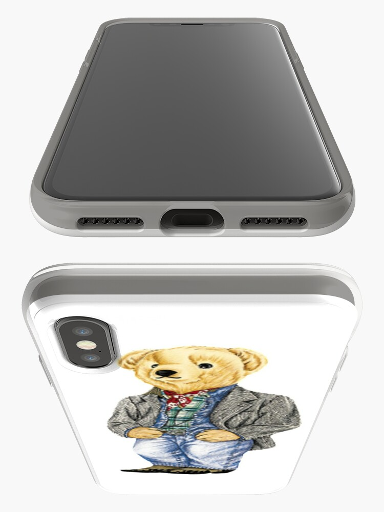 Alternate view of Cowboy Denim Polo Bear iPhone Case & Cover