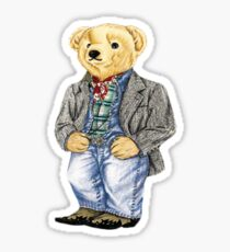 Cowboy Denim Polo Bear Sticker