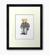 Cowboy Denim Polo Bear Framed Print