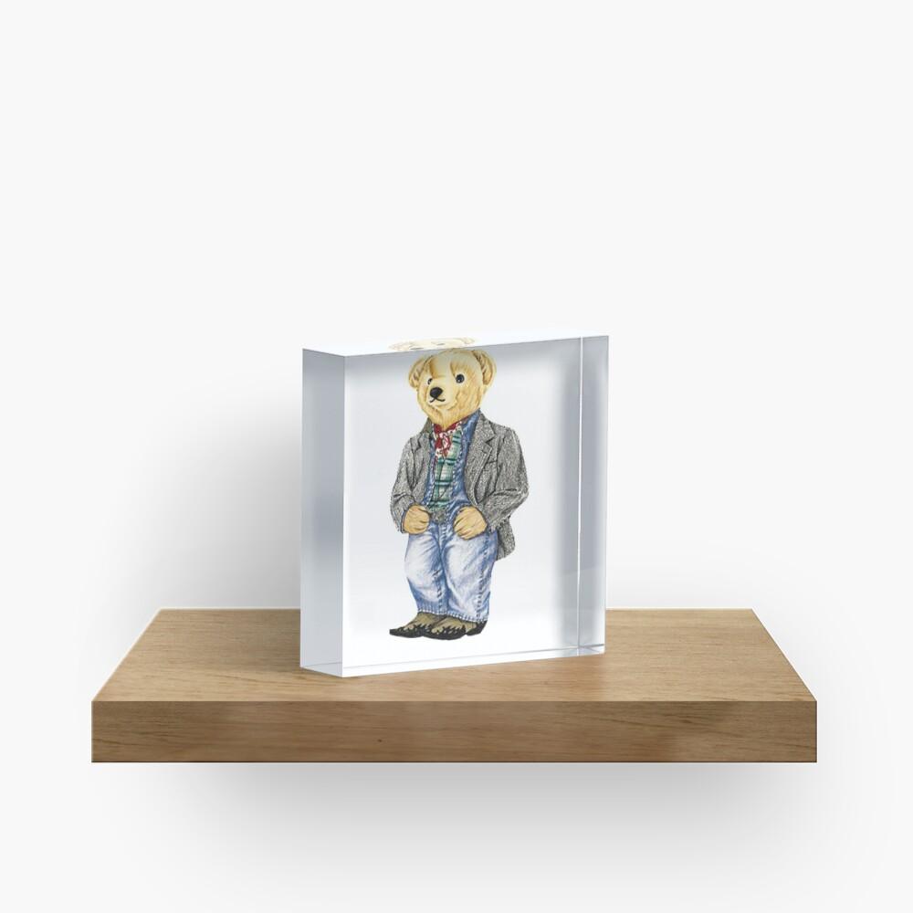 Cowboy Denim Polo Bear Acrylic Block