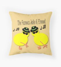 Elwood and Jake tee design Throw Pillow
