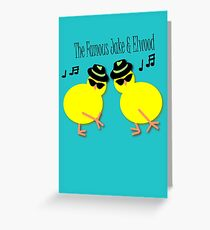 Elwood and Jake tee design Greeting Card