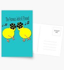 Elwood and Jake tee design Postcards